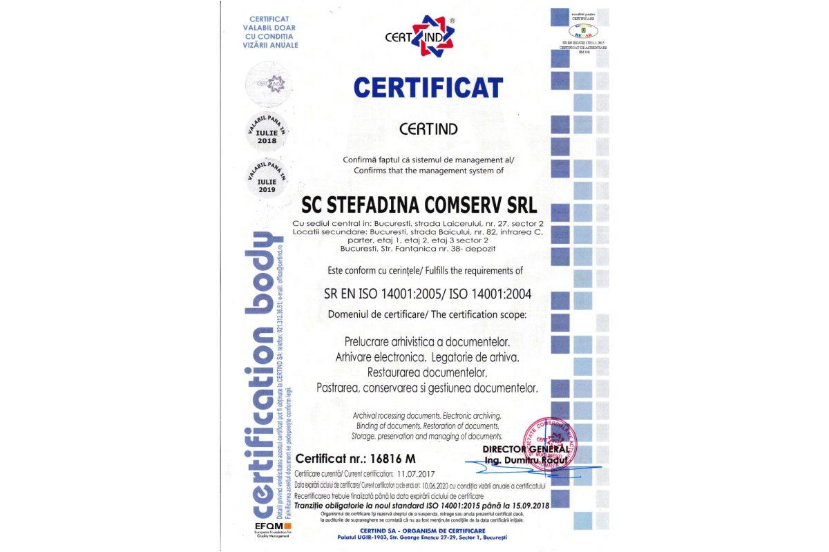 SR EN ISO14001:2005 - Environmental Management System