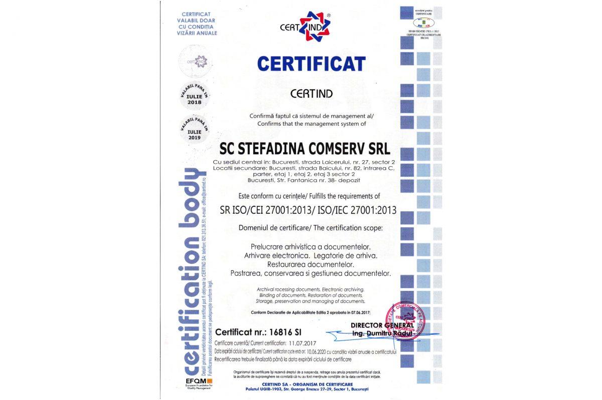 SR ISO 27001:2013 - Sistem de Management al Securității Informației
