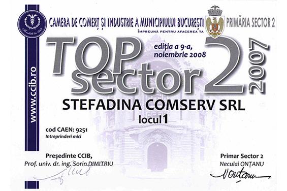 Diplomă Locul 1 pe Sectorul 2 Bucureşti 2007