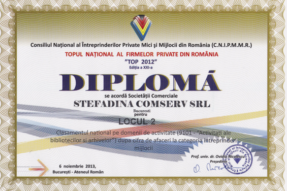 2nd Place Romanian National Top 2012