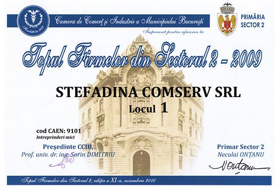 1st Place District 2 Bucharest 2009