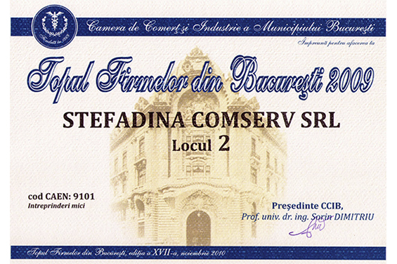 Diploma Locul 2 Bucuresti 2009
