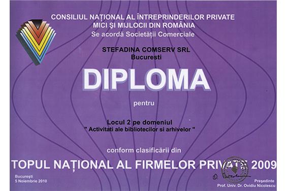 Diploma Locul 2 National 2009