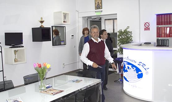 Vizită George Ivașcu (actor și director al Teatrului Metropolis) în cadrul S.C. Stefadina Comserv S.R.L.