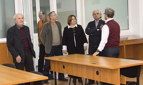 Vizită în cadrul S.C. Stefadina Comserv S.R.L  Gheorghe Sbârnă, Constantin Bușe, Iulia Cheșcă, Constantin Burac