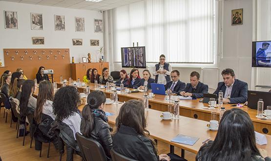 """Vizită studenți ai Academiei de Poliție ,,Al. Ioan Cuza"""", Facultatea de Arhivistică"""