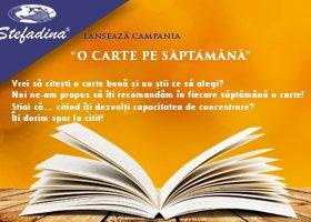 """,,O carte pe săptămână"""" o campanie lansată de Stefadina Comserv SRL!"""