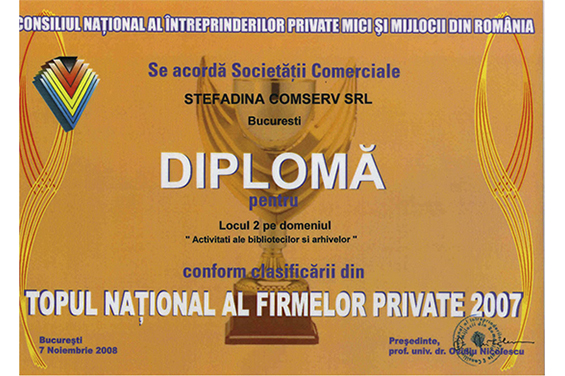 2ème lieu - Top national roumain 2007
