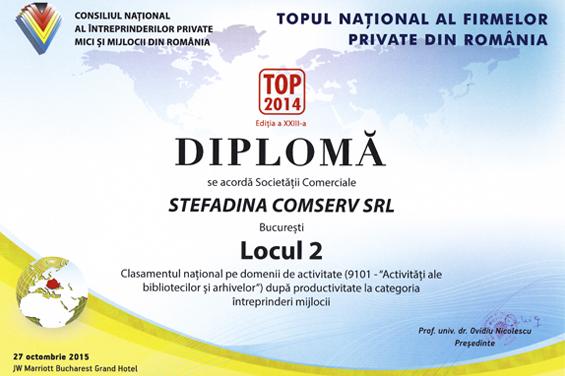 diplôme 2 lieu national 2014 productivité dans l'activité