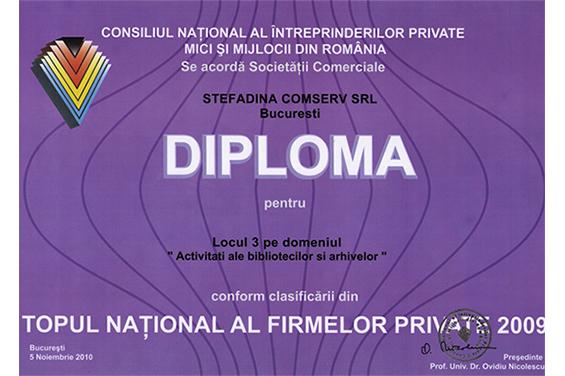 diplôme de 3eme lieu national 2009