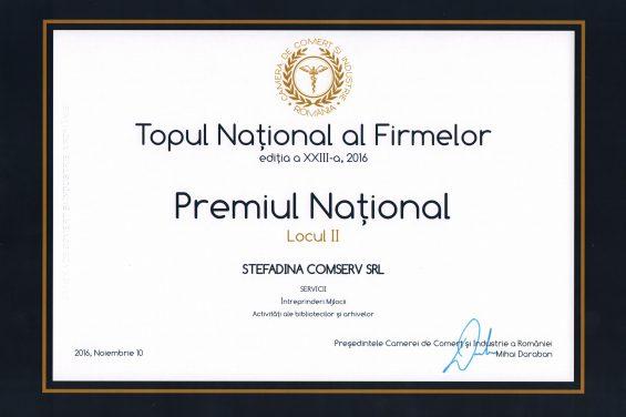diplôme 2e lieu top national de l'entreprises 2016