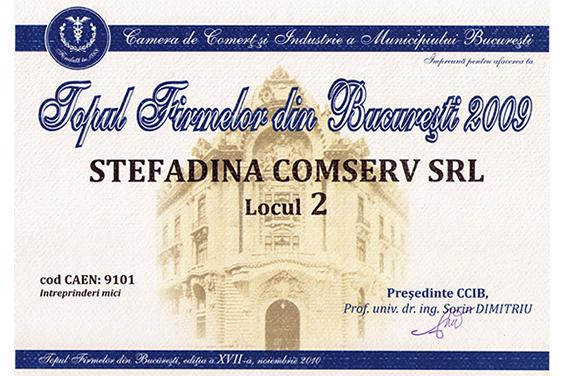 2ème lieu Top nationale roumaine 2009
